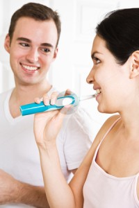 sharing a toothbrush
