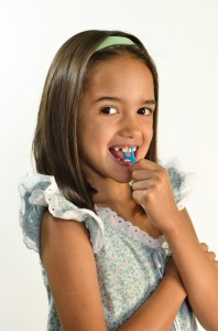 flossing for kids is great with picks!